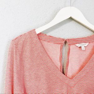 Lucky Brand Striped Top with Bell Sleeves